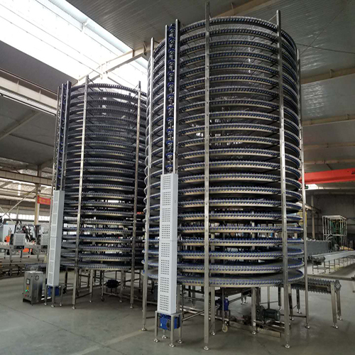 Stainless Steel Bread Spiral Conveyor Automatic Bun Bread Baking Production Line
